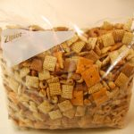 One 12 cup batch of Chex Mix makes a gallon bag