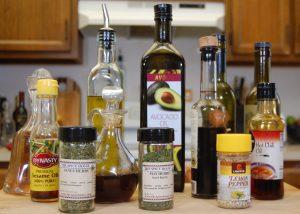 A wide array of ways to flavor a basic vinaigrette