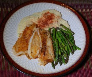 Pan Seared Flounder and Smoked Gouda Grits