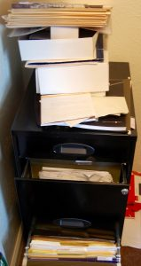 How much old office junk and paperwork is laying around?