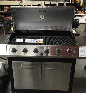 A six burner grill