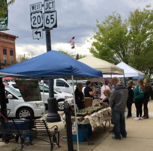 Booths at Perrysburg farmers market
