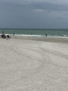A beach stop along Florida 789. Stormy but fun day