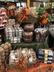 A variety of fall favorites, or at least fall colored favorites, available at a local megamart