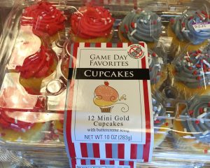 Game Day cup cakes...in this case OSU colors